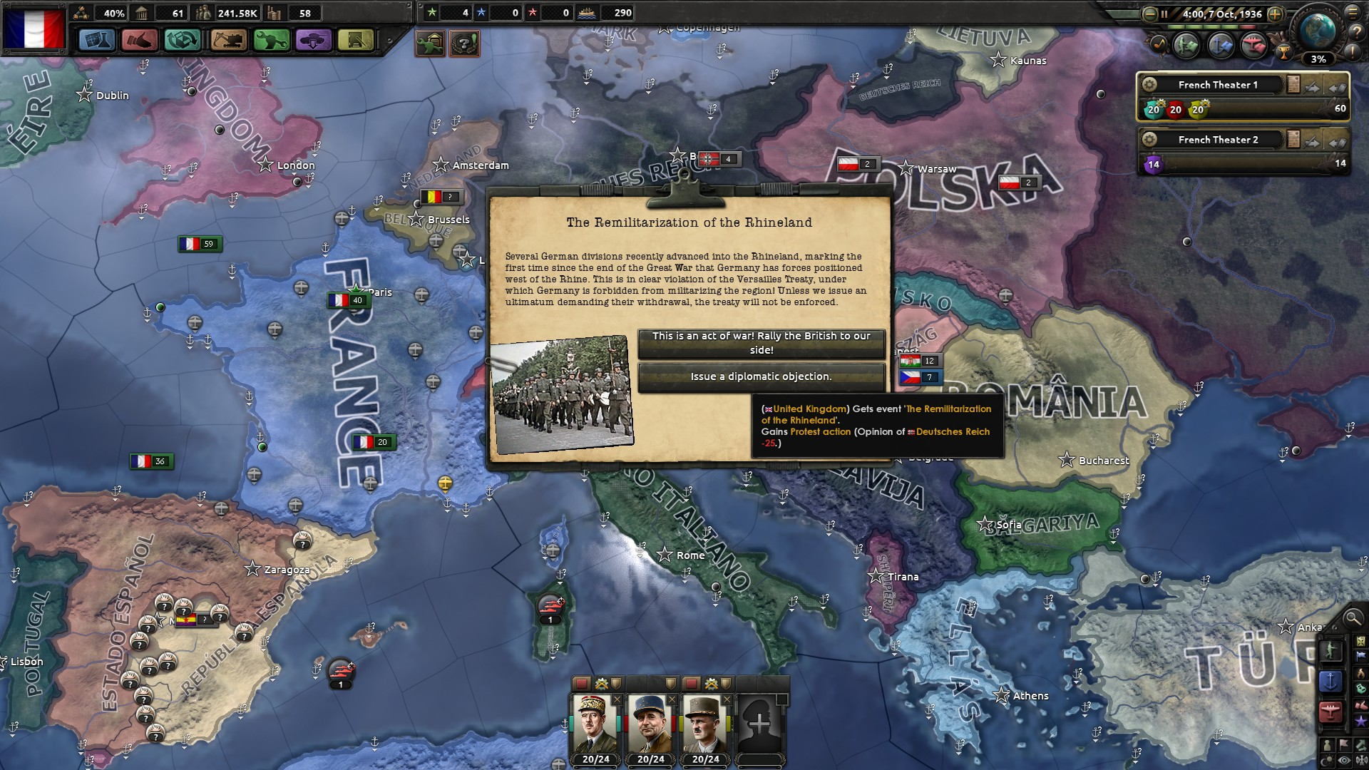 France run: vive la France under Big Entente (Hearts of Iron